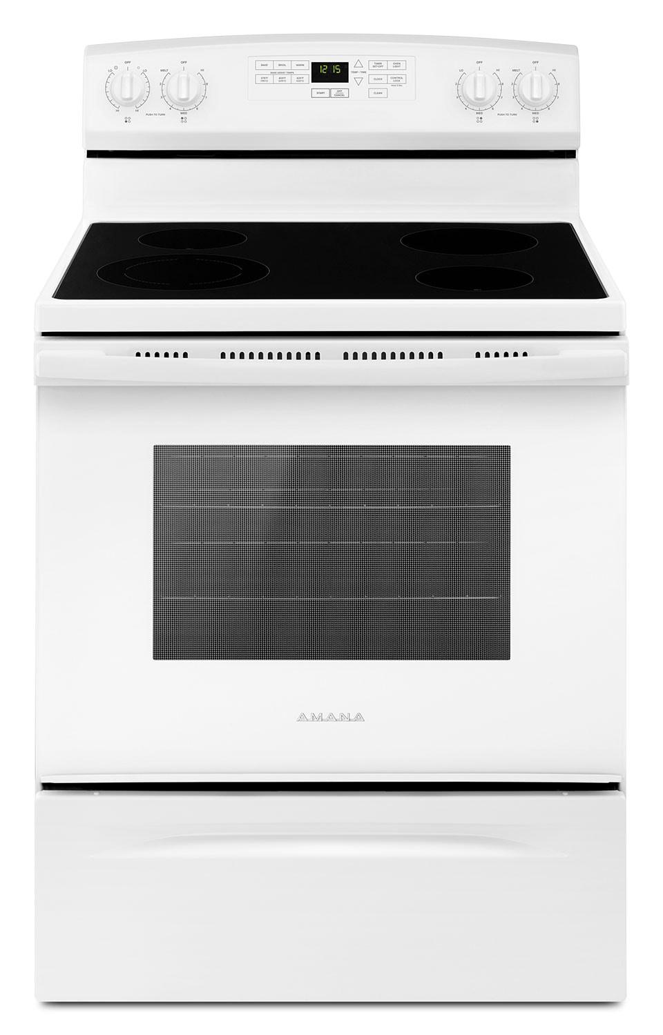 Amana 4.8 Cu. Ft. Freestanding Electric Range with Self-Clean – YAER6603SFW
