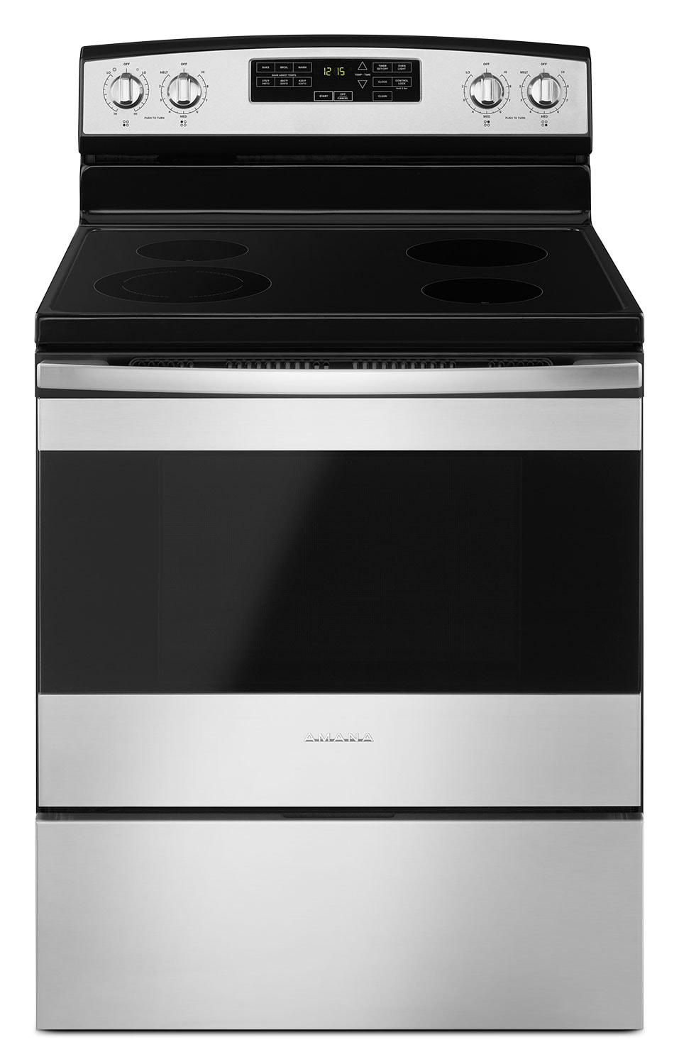 Amana 4.8 Cu. Ft. Freestanding Electric Range with Self-Clean – YAER6603SFS
