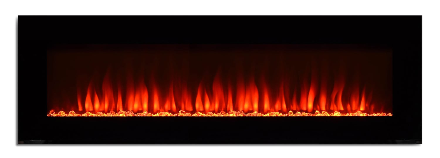 "60"" Wall-Mount Electric Fireplace"