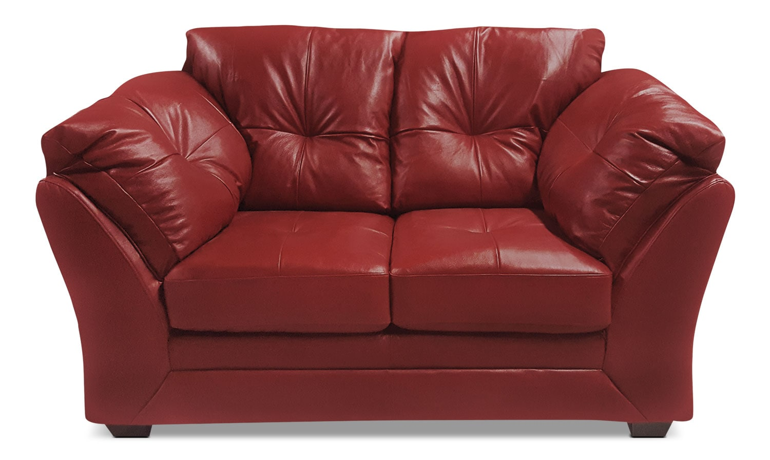 Max Genuine Leather Loveseat – Red