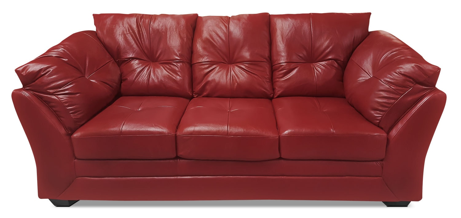 Max Genuine Leather Sofa – Red