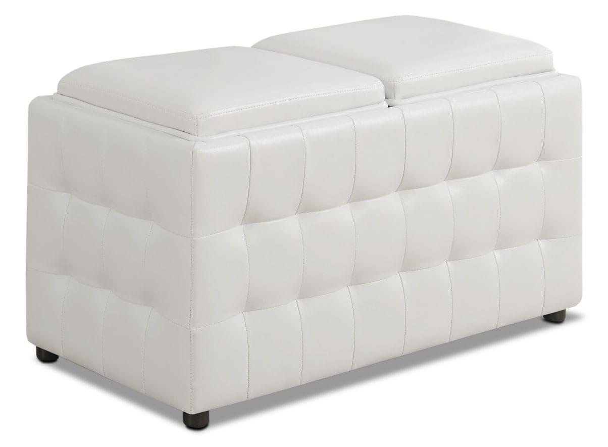 Milo Storage Ottoman - White