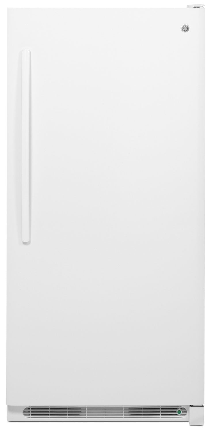 GE 20.9 Cu. Ft. Manual Defrost Upright Freezer – FUM21DHRWW