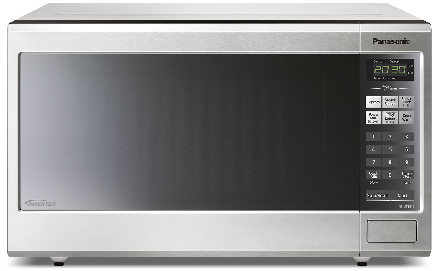 Panasonic Genius® 1.2 Cu. Ft. Countertop Microwave – NNST681SC