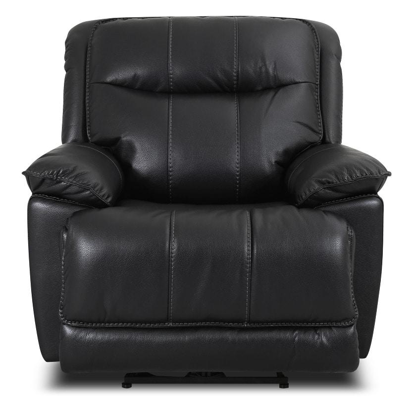 Matt Leather-Look Fabric Reclining Chair – Black