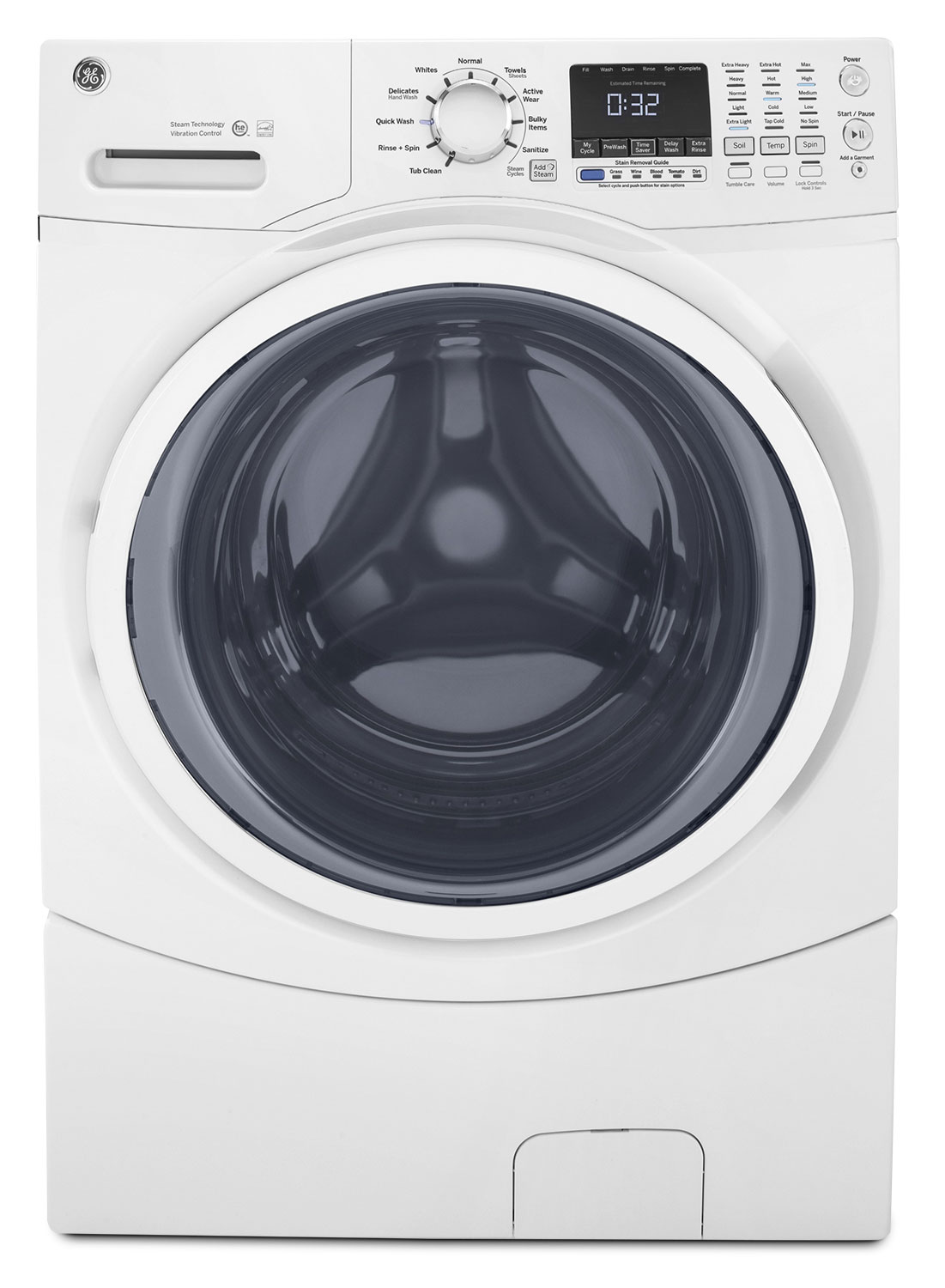 GE 5.2 Cu. Ft. Front-Load Washer – GFW450SSKWW