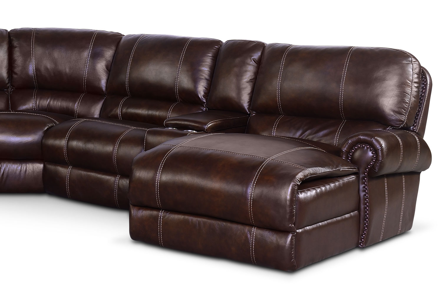 Dartmouth 6 Piece Power Reclining Sectional With Right