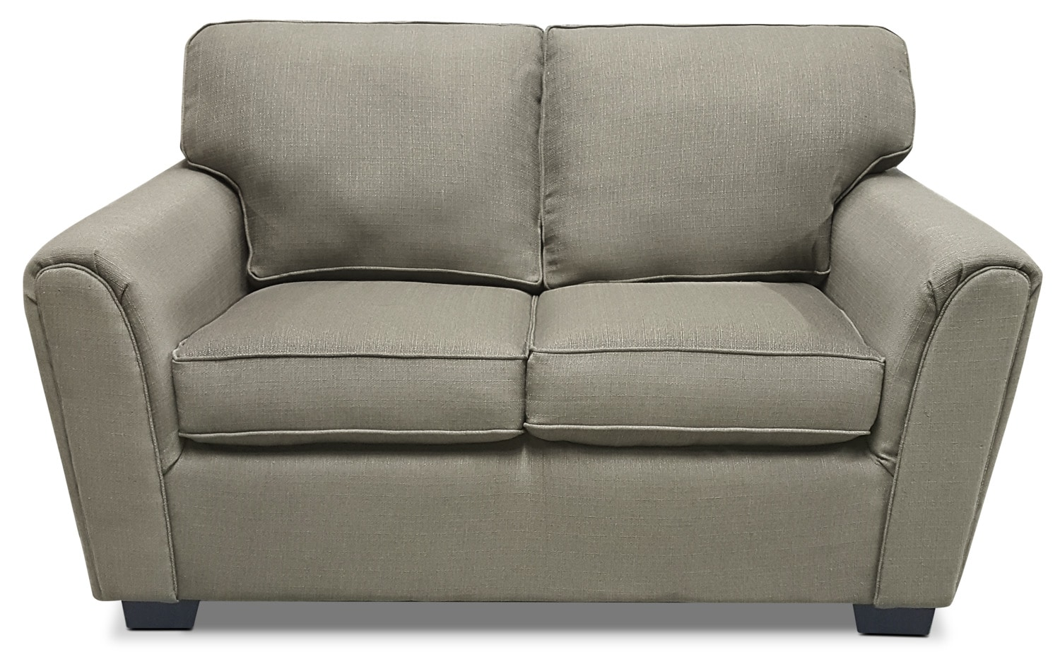 Brynn Linen-Look Fabric Loveseat – Taupe