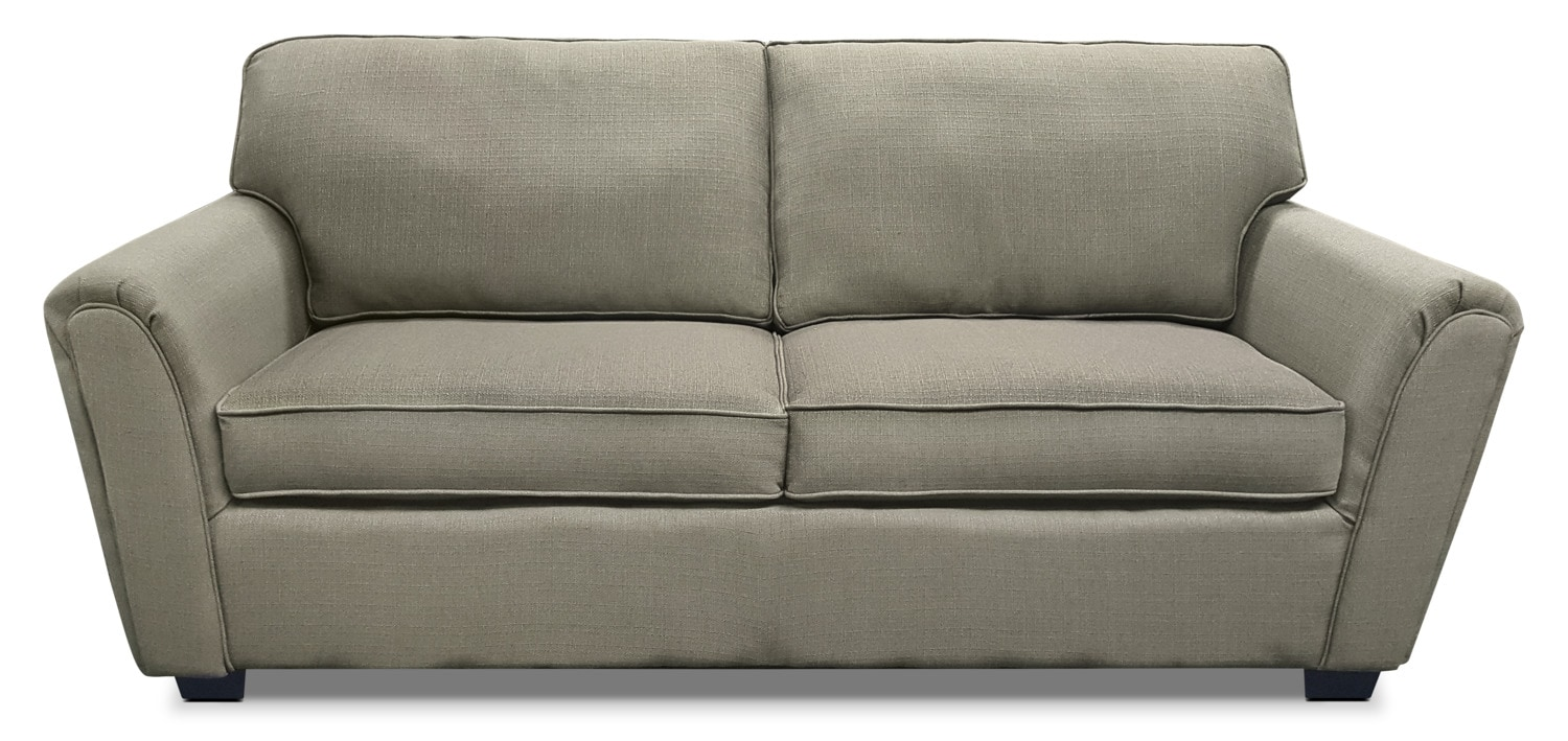 Brynn Linen-Look Fabric Sofa – Taupe
