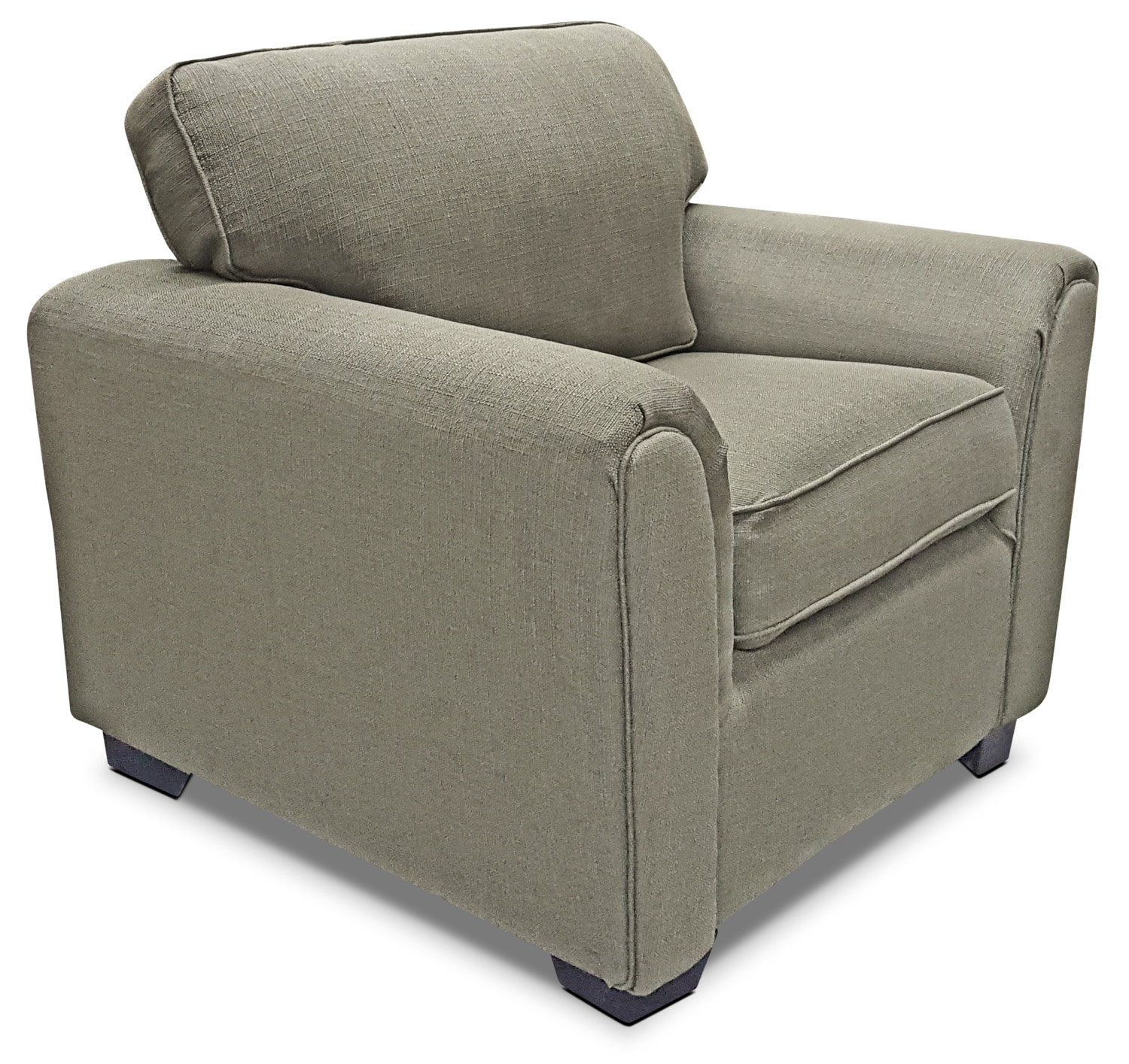 Brynn Linen-Look Fabric Chair – Taupe