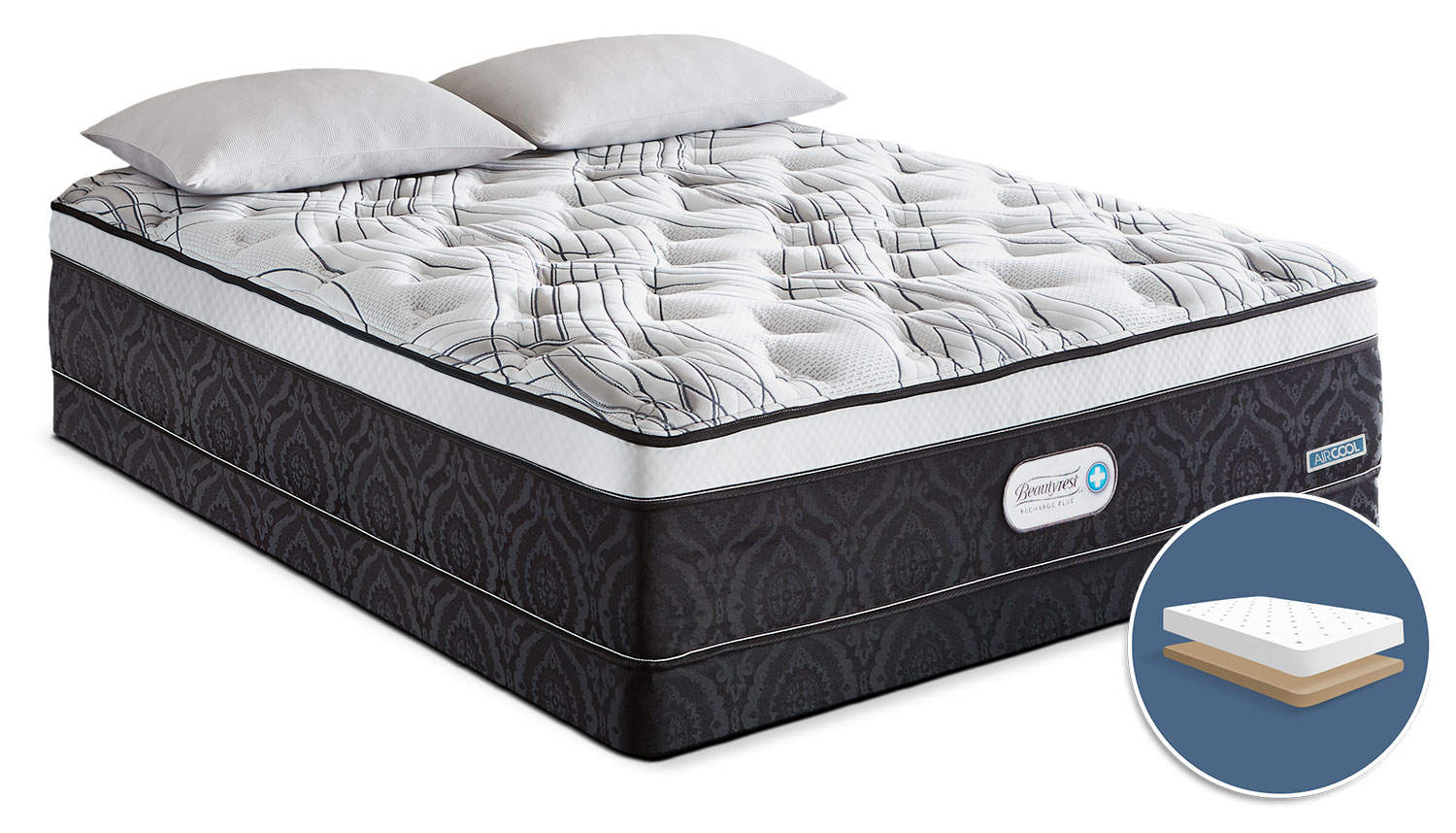 Beautyrest® Recharge Ambrose Euro-Top Luxury Firm Low-Profile King Mattress Set