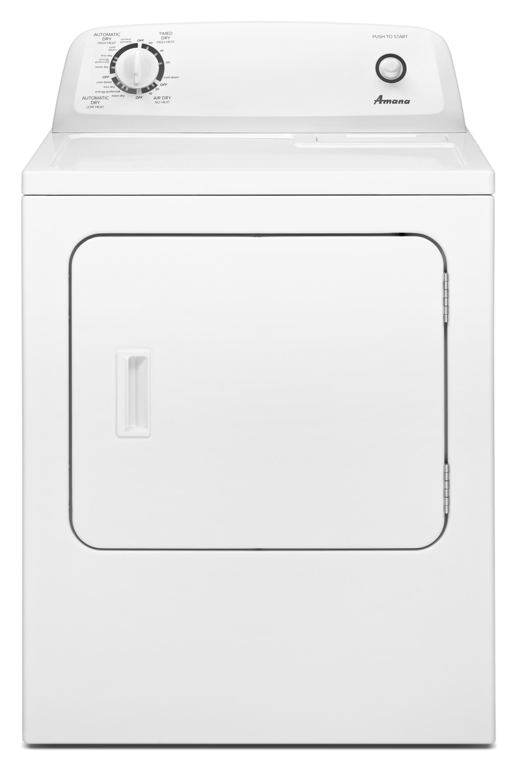 Amana 6.5 Cu. Ft. Electric Dryer with Automatic Dryness Control – YNED4655EW