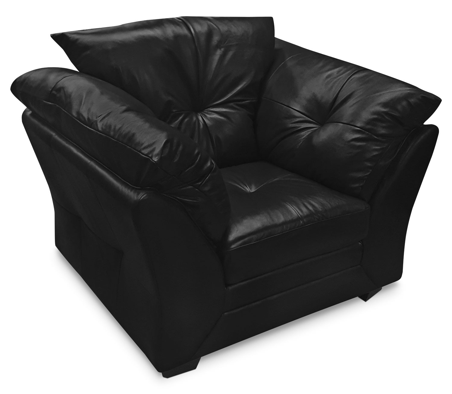 Max Genuine Leather Chair – Black
