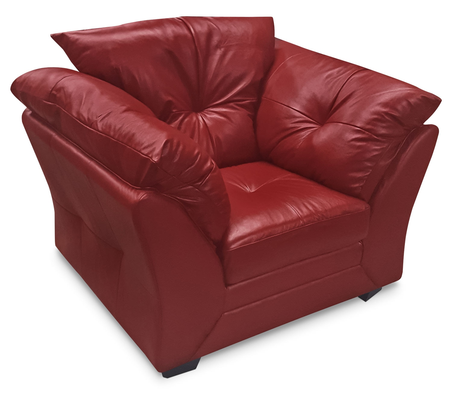 Max Genuine Leather Chair – Red