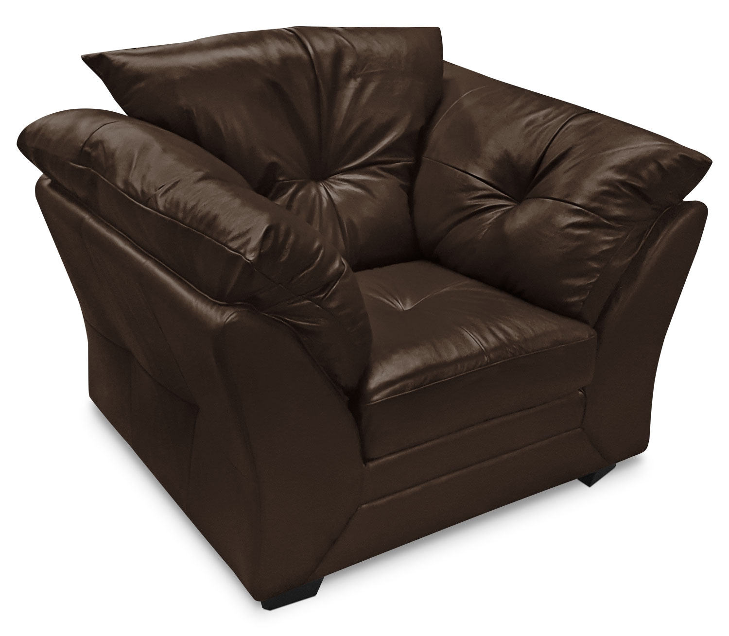 Max Genuine Leather Chair – Brown