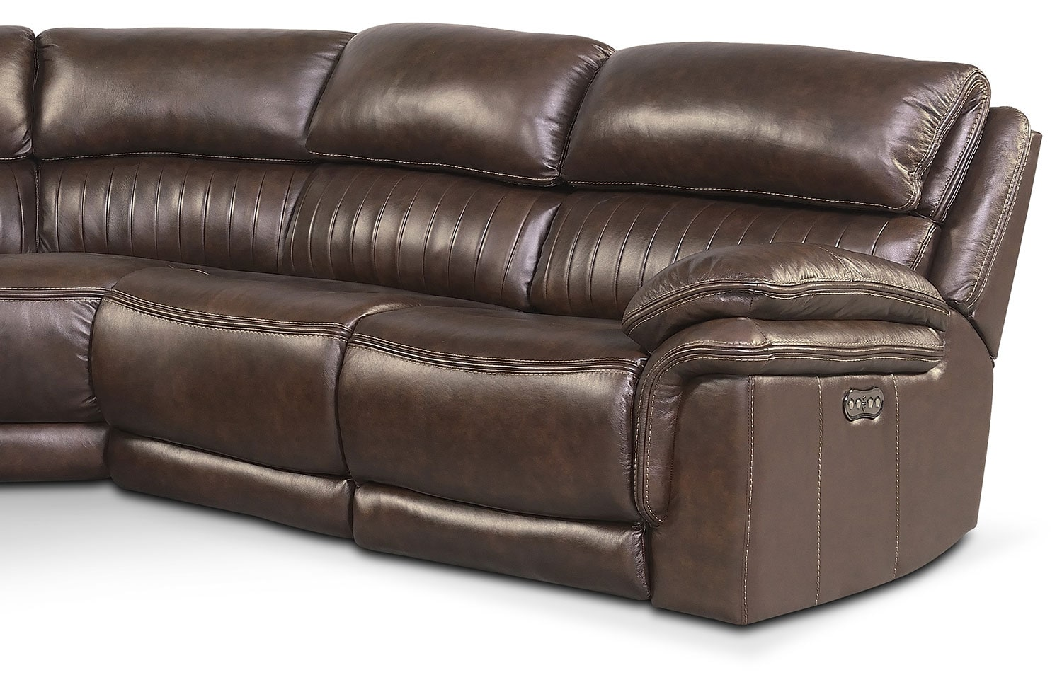 Monterey 6 piece power reclining sectional with left for Brown sectionals with chaise