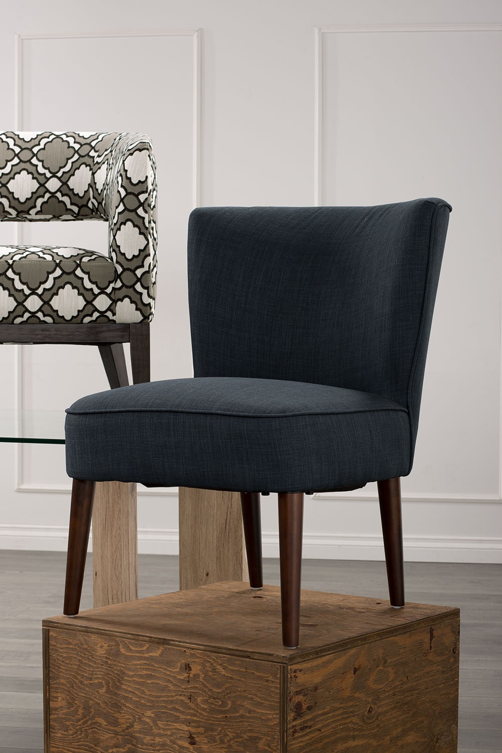 lisa fabric accent chair patterned united furniture warehouse. Black Bedroom Furniture Sets. Home Design Ideas