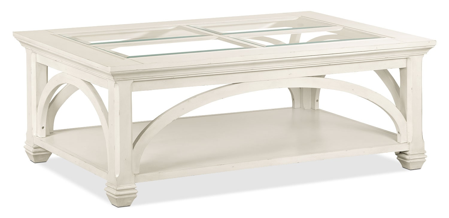 Accent and Occasional Furniture - Hancock Park Coffee Table with Casters