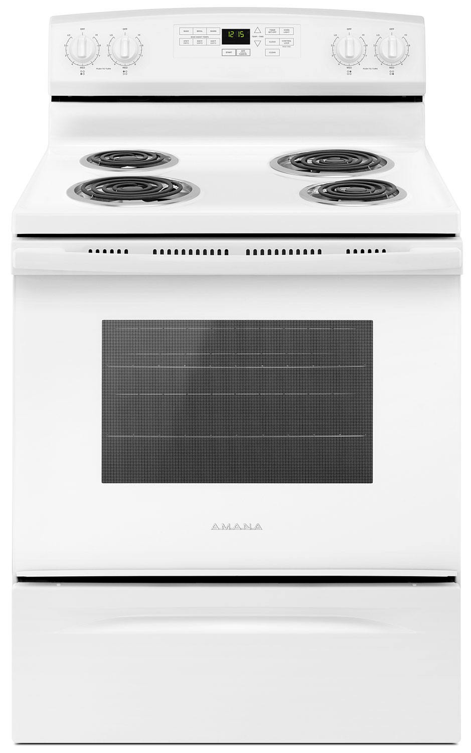 Amana 4.8 Cu. Ft. Freestanding Electric Range – YACR4503SFW