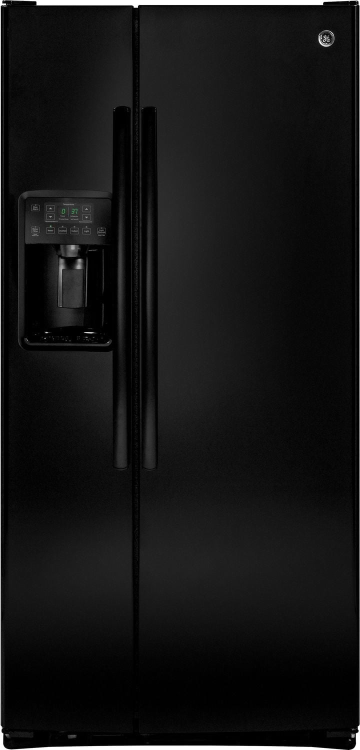 GE 22.5 Cu. Ft. Side-By-Side Refrigerator with Dispenser – GSS23HGHBB