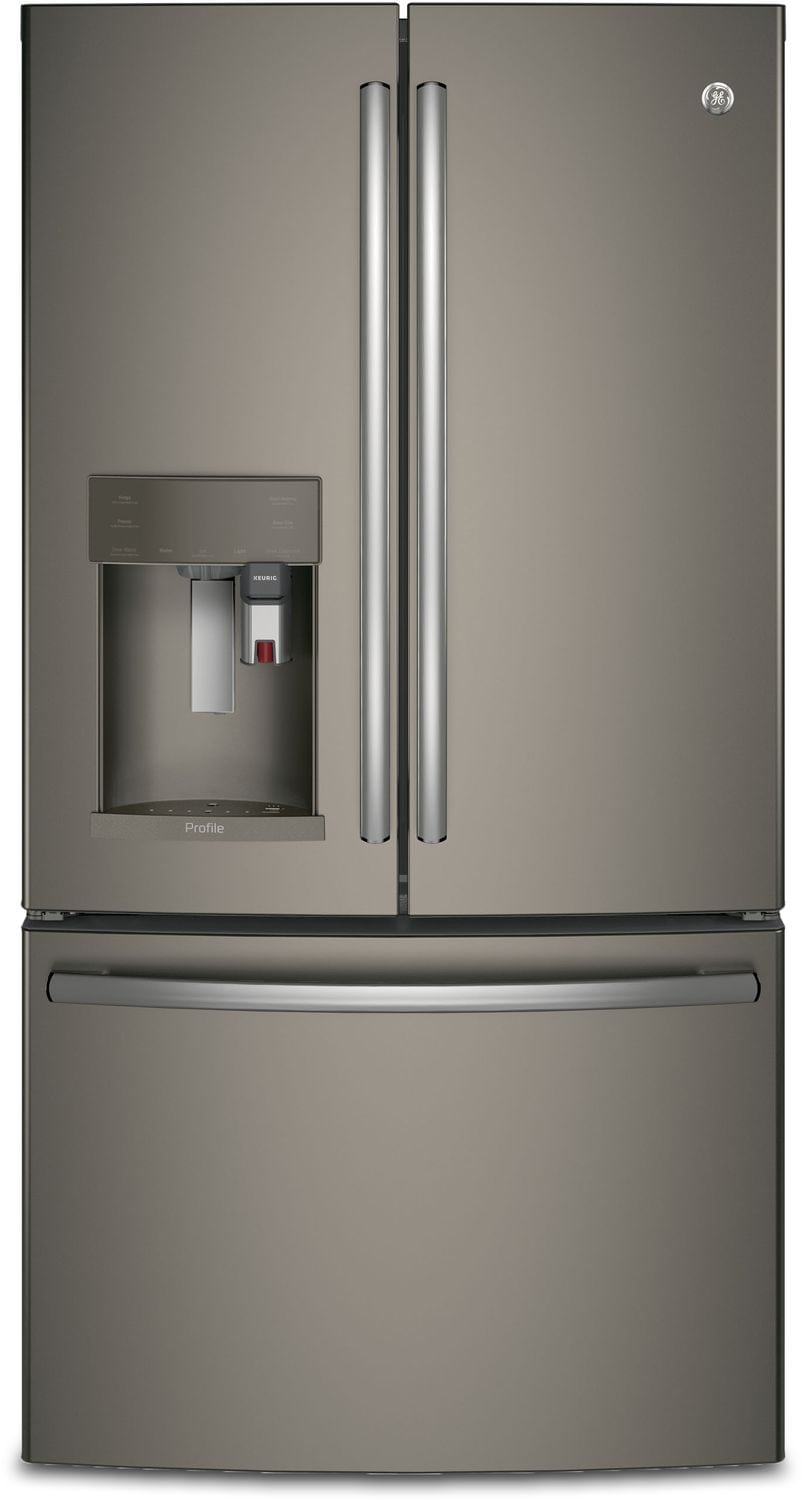 GE 27.7 Cu. Ft. French-Door Refrigerator with Keurig® K-Cup® Brewing System – PFE28PMKES
