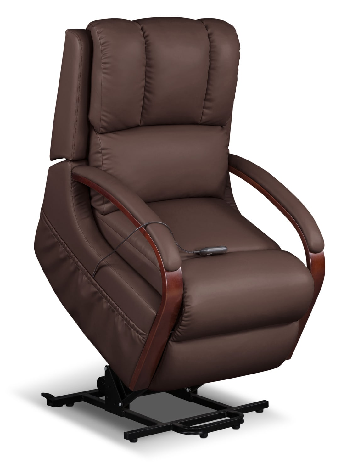 Ray Bonded Leather Power Lift Recliner – Brown