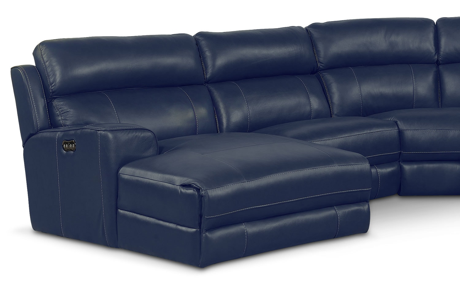 Newport 5-Piece Power Reclining Sectional with Left-Facing ...
