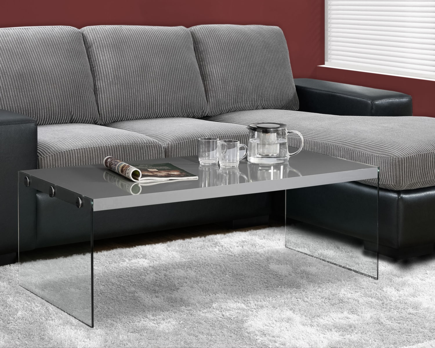 Sargent Coffee Table - Matte Grey