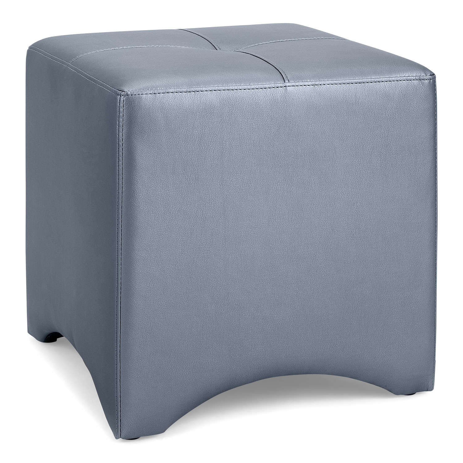 Accent and Occasional Furniture - Lux Ottoman – Grey