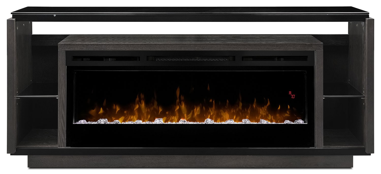 David 74 Tv Stand With Glass Ember Firebox The Brick