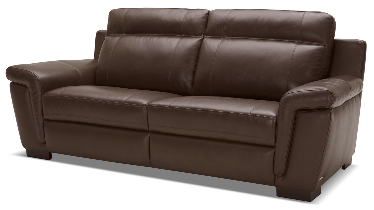 seth genuine leather sofa u2013 mahogany