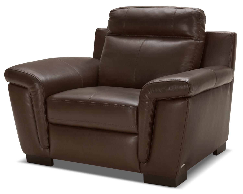 Living Room Furniture - Seth Genuine Leather Chair – Mahogany