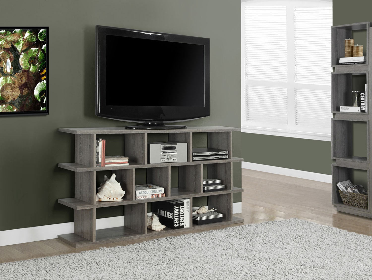 Basker TV Stand - Dark Taupe