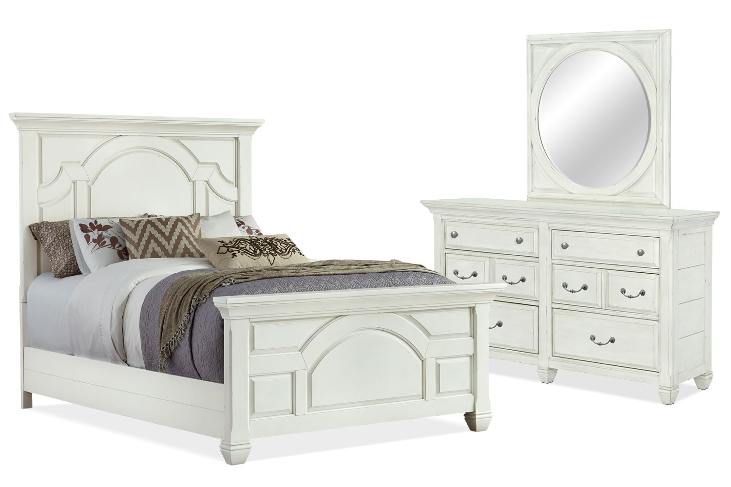Bedroom Furniture - Hancock Park 5-Piece Queen Bedroom Package
