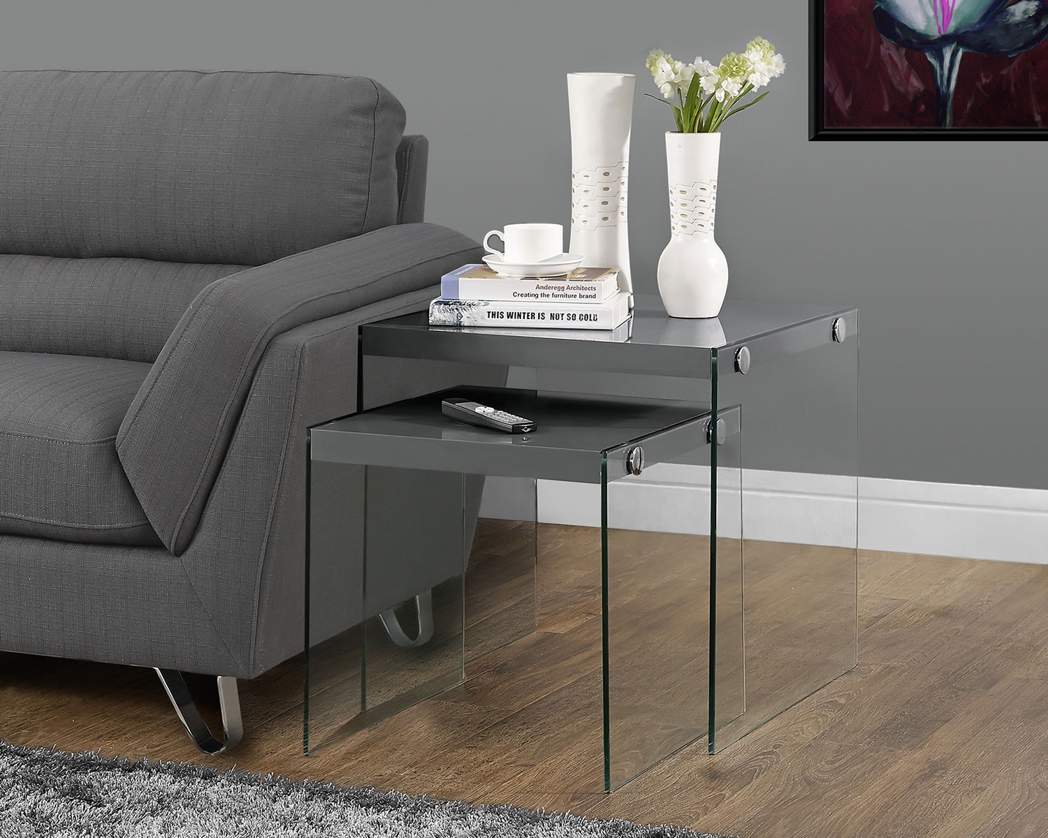 Sargent Nesting Tables - Matte Gray
