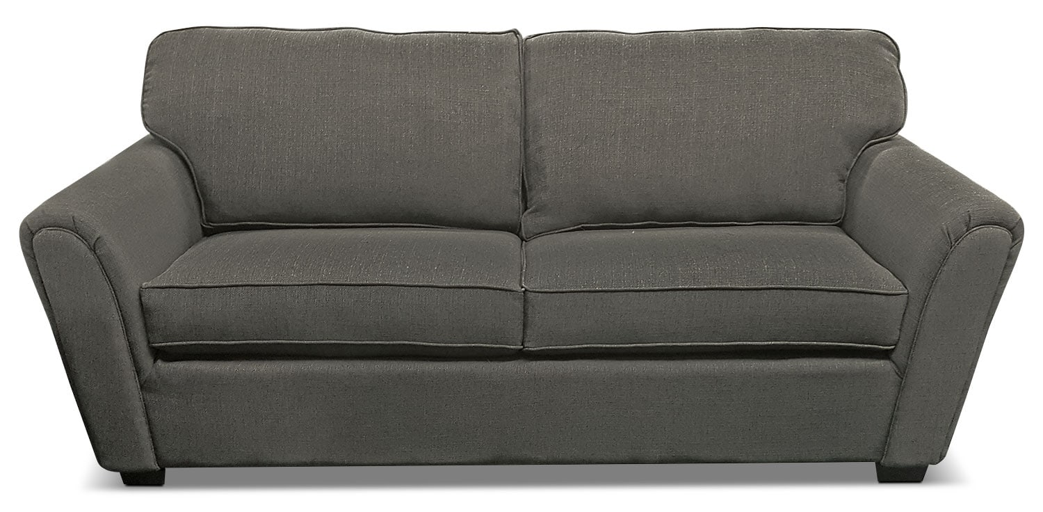 Brynn Linen-Look Fabric Sofa – Grey