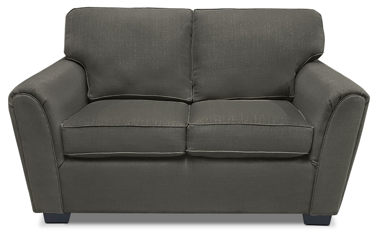 Brynn Linen-Look Fabric Loveseat – Grey