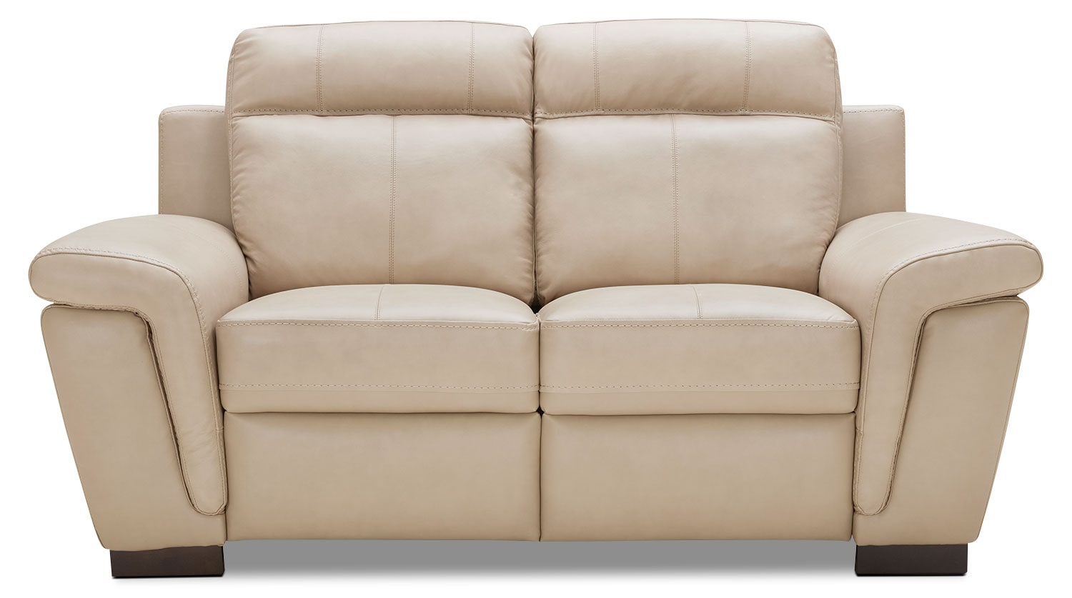 Seth Genuine Leather Power Reclining Loveseat Rope The Brick