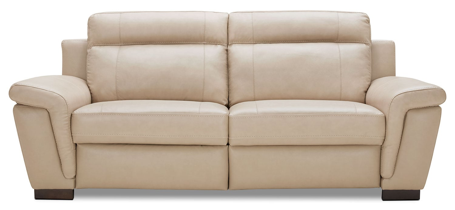 Seth Genuine Leather Power Reclining Sofa Rope The Brick