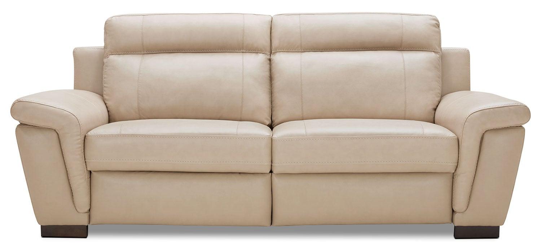 Seth Genuine Leather Power Reclining Sofa Rope The Brick