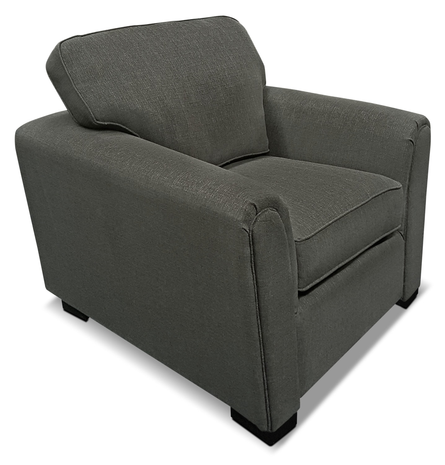 Living Room Furniture - Brynn Linen-Look Fabric Chair – Grey