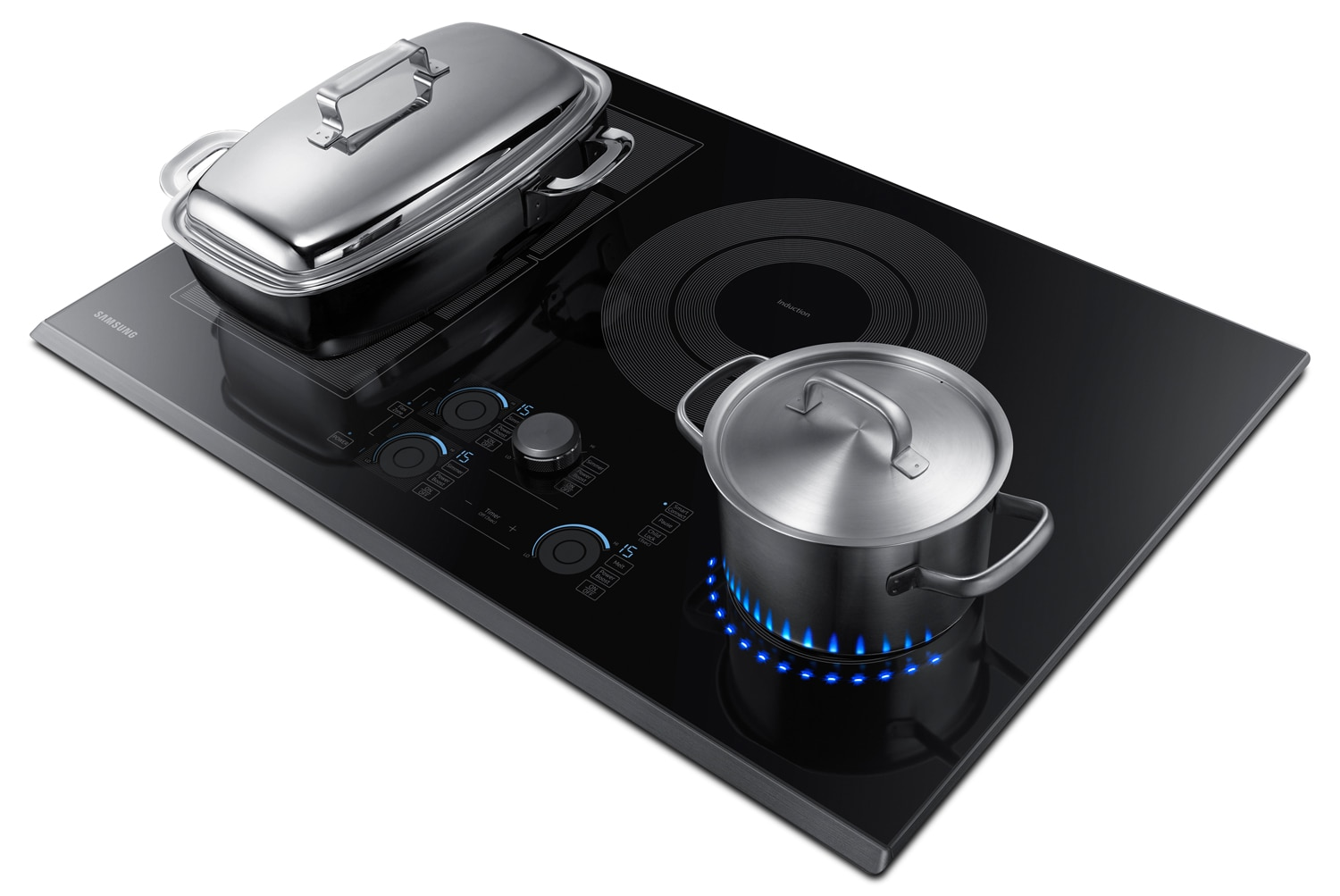 Samsung 30 induction cooktop with virtual flame Samsung induction range