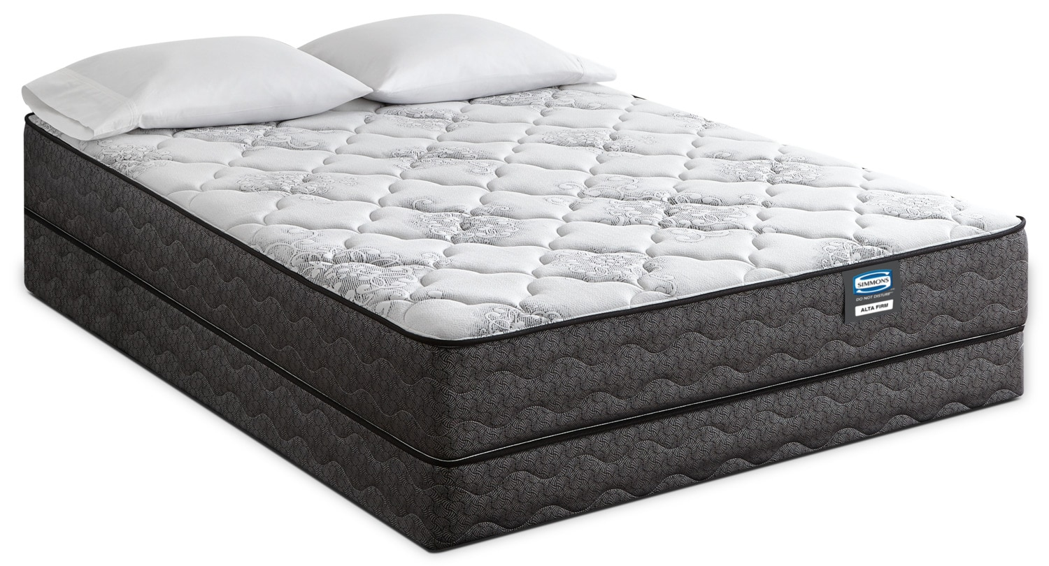 Simmons Do Not Disturb Alta Tight Top Firm Queen Mattress Set The Brick