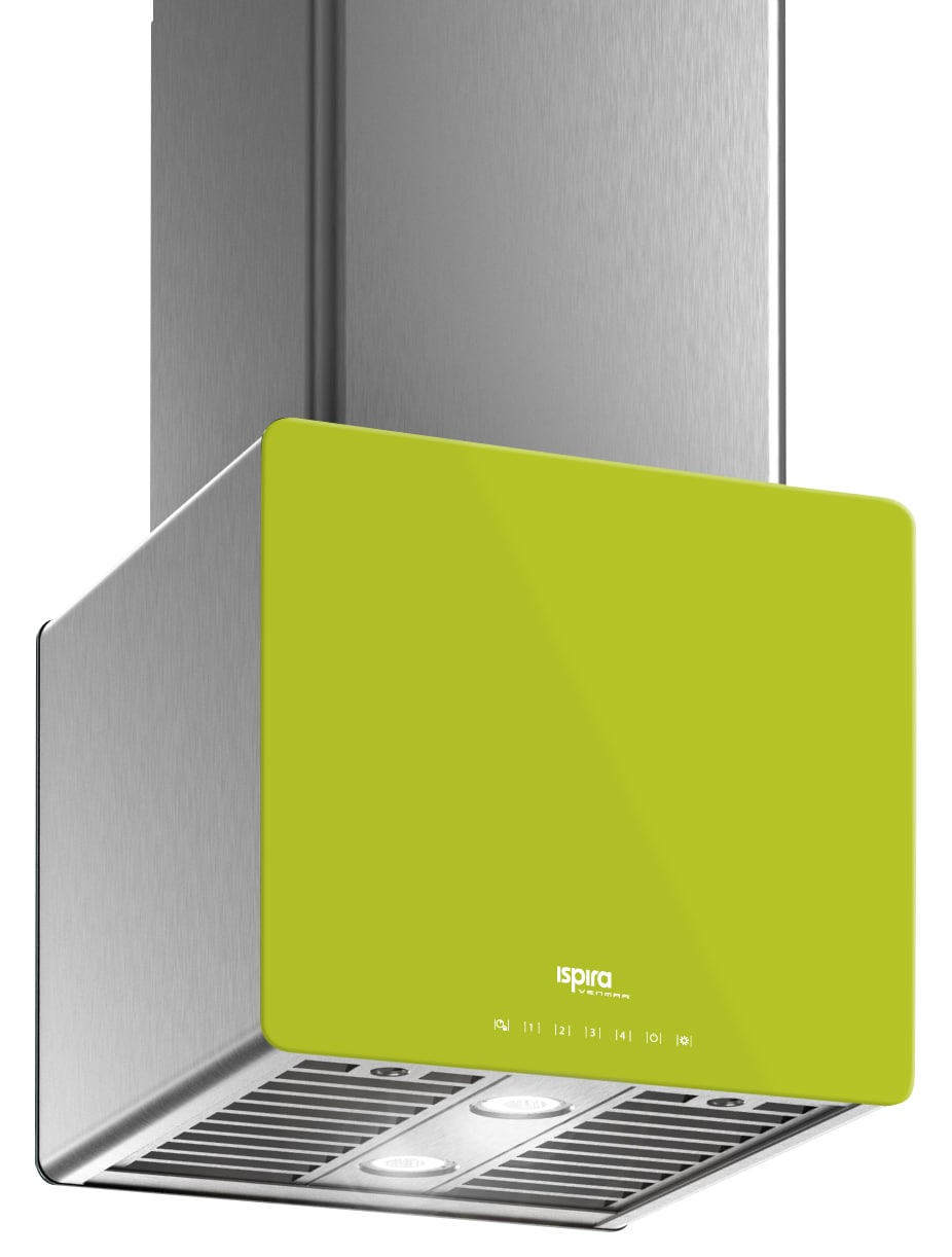 "Venmar Ispira 16"" Island or Chimney Range Hood – Lime Green"