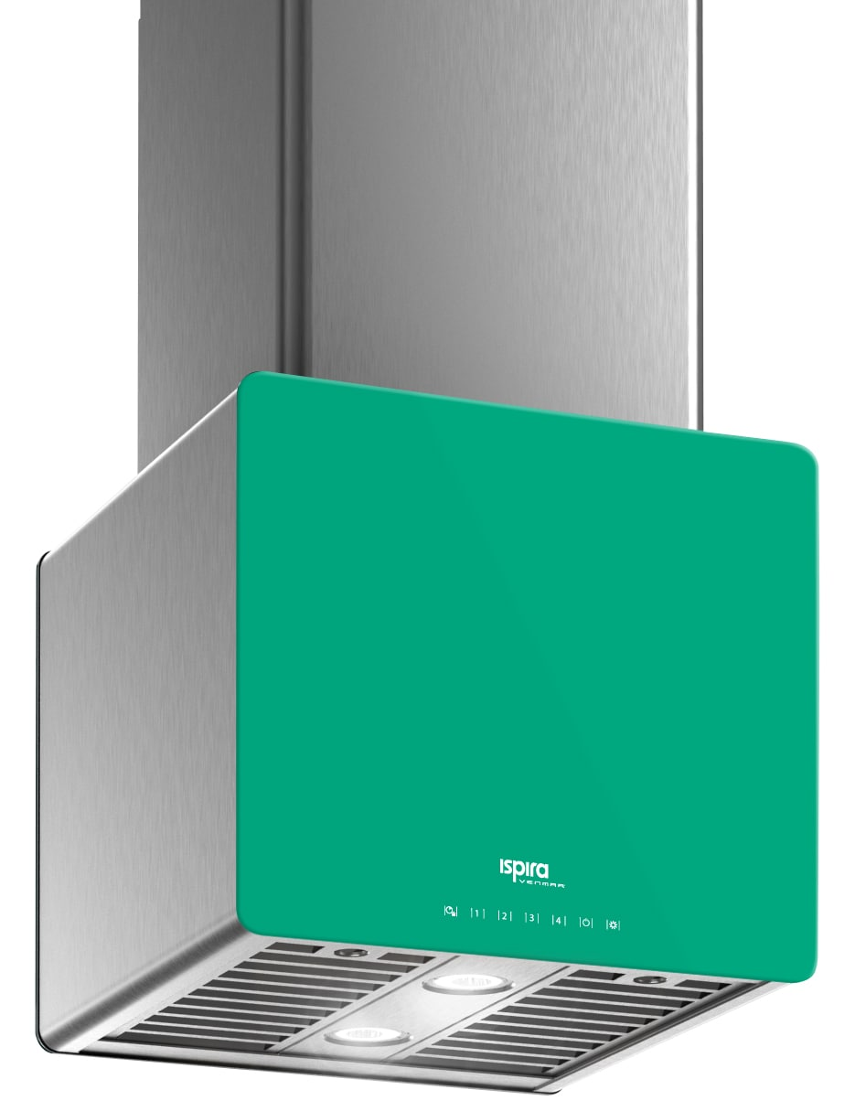 "Venmar Ispira 16"" Island or Chimney Range Hood – Emerald Green"