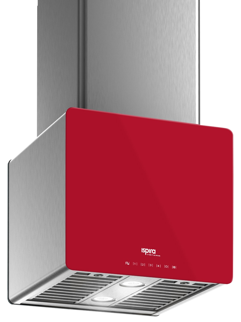 "Venmar Ispira 16"" Island or Chimney Range Hood – Red"