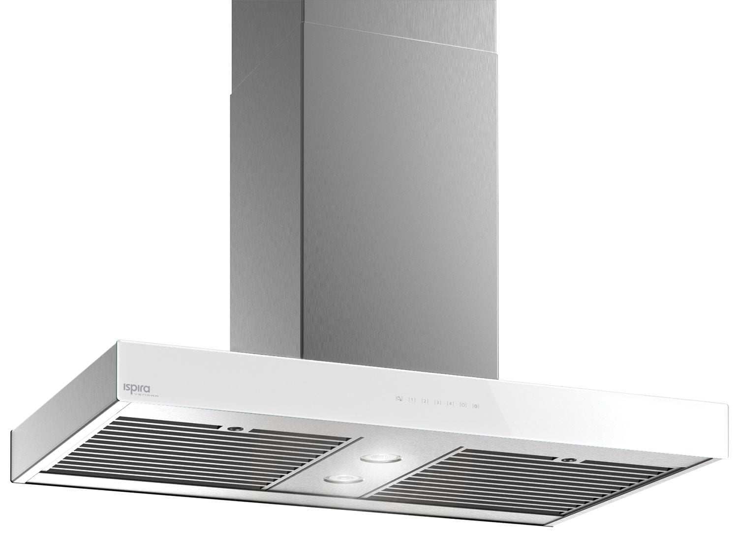"Cooking Products - Venmar Ispira 36"" Island Range Hood – White Panel IS70036WH"