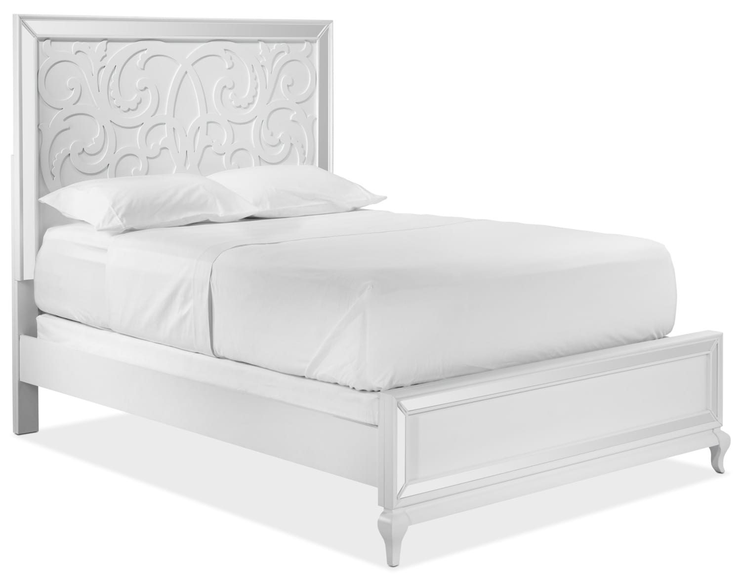 Arctic Ice King Bed - White