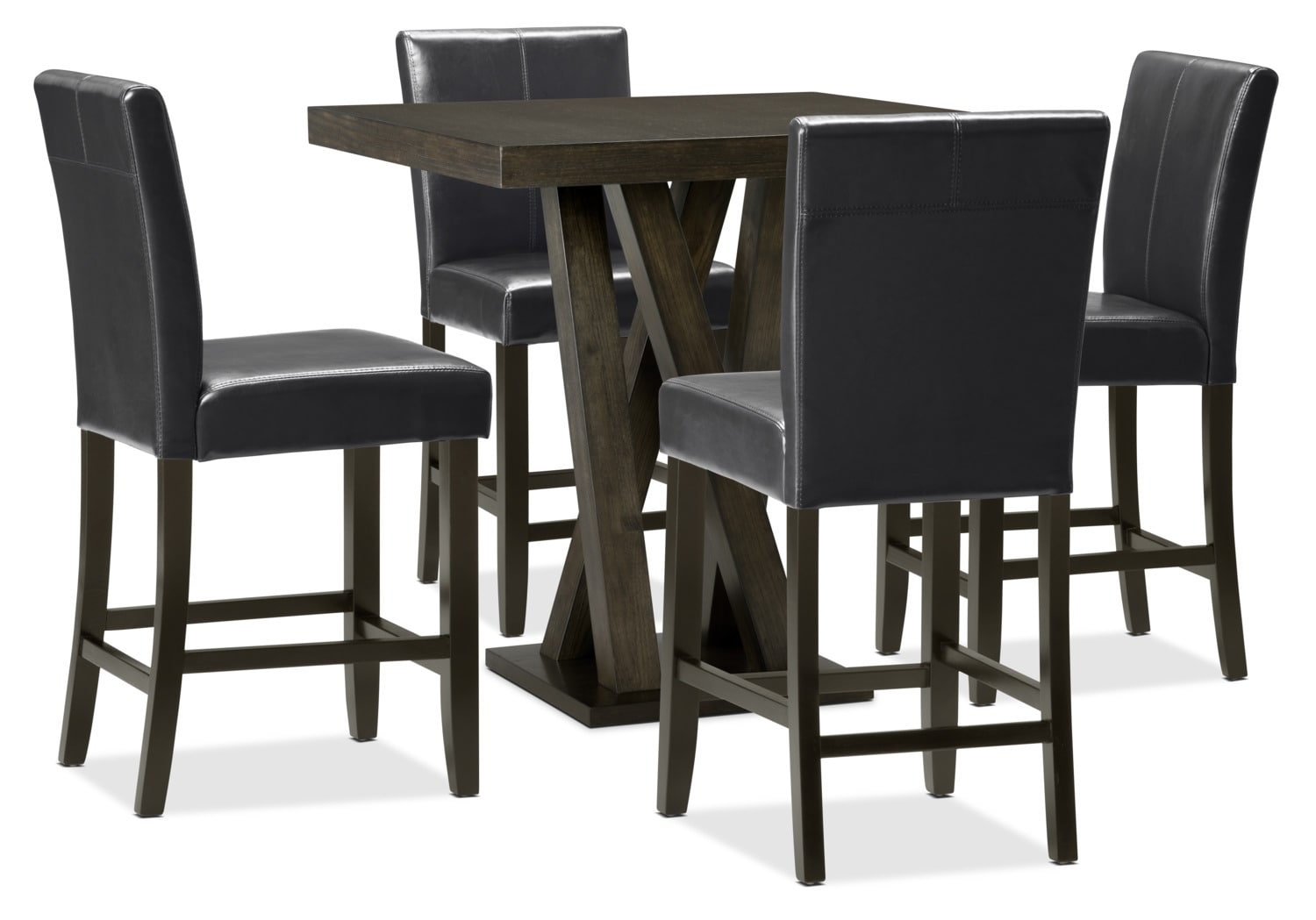 Soho 5-Piece Counter-Height Dining Package – Black