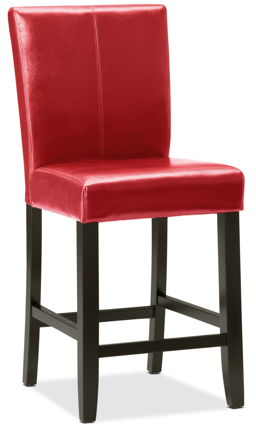 Red counter height dining chair the brick for Red dining room chairs